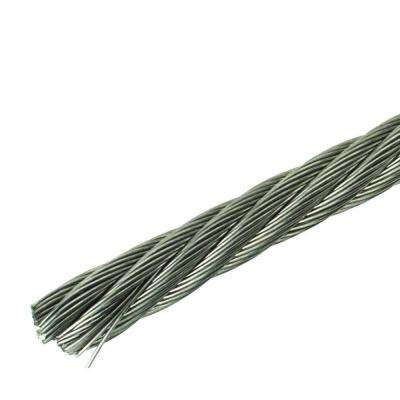 1/4 in. x 150 ft. Stainless Steel Plated Uncoated Wire Rope