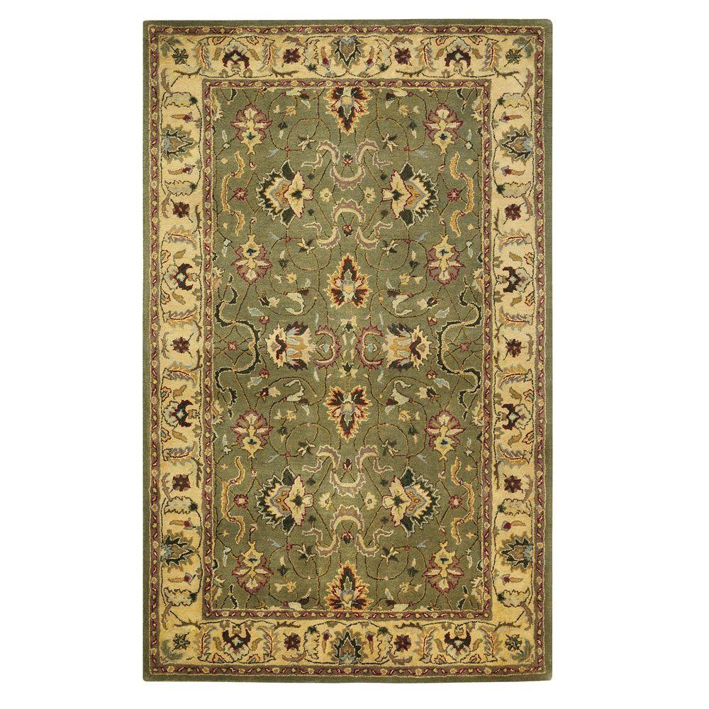 Home decorators collection rochelle green 6 ft x 9 ft for Home decorators rugs