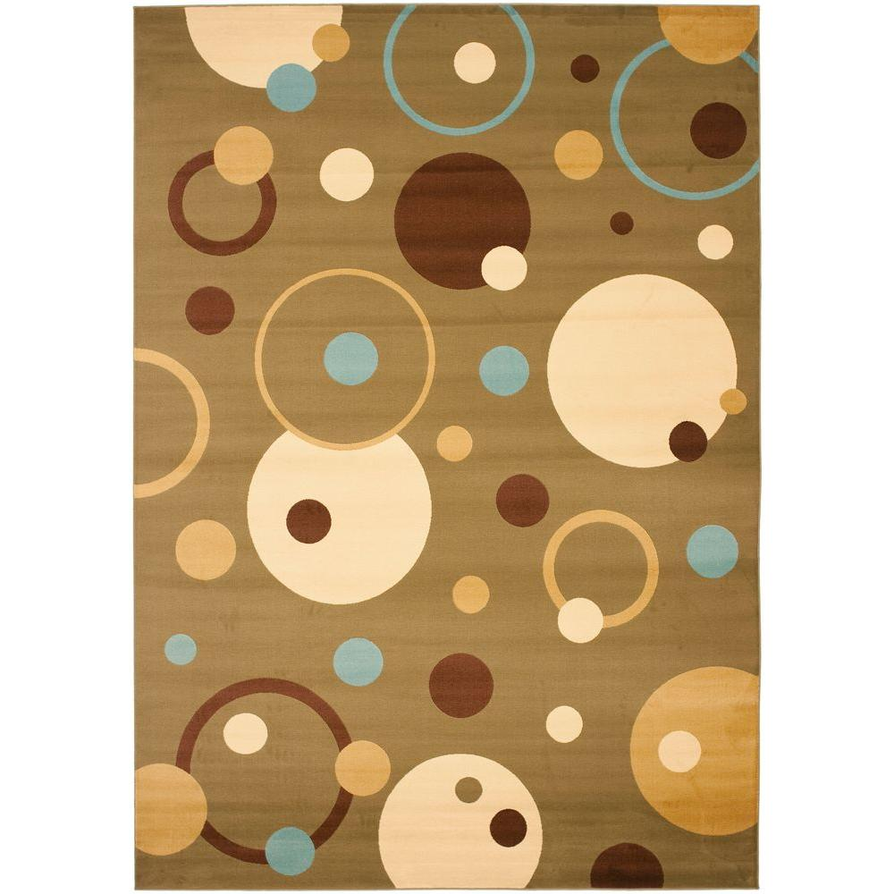 Porcello Green/Multi 8 ft. x 11 ft. 2 in. Area Rug