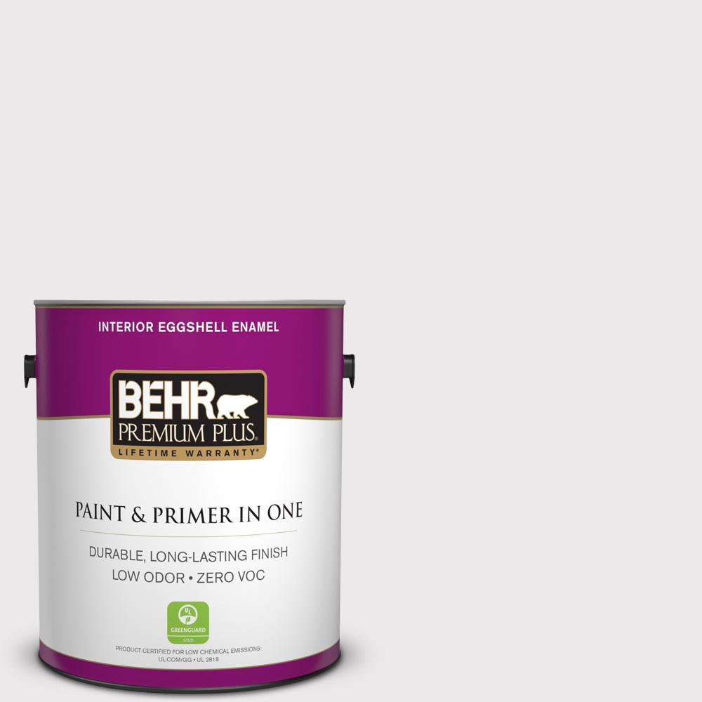 BEHR Premium Plus 1-gal. #670E-1 Timeless Day Zero VOC Eggshell Enamel Interior Paint