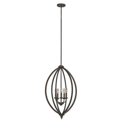 Lexington 5-Light Rubbed Oil Bronze Pendant