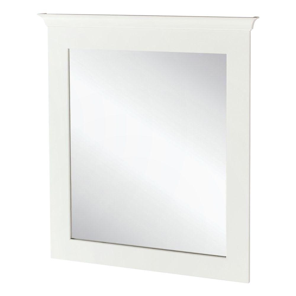 Home Decorators Collection Creeley 30 In X 34 Framed Bath White Mirror 36