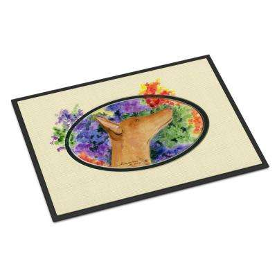 18 in. x 27 in. Indoor/Outdoor Pharaoh Hound Indoor Outdoor Mat