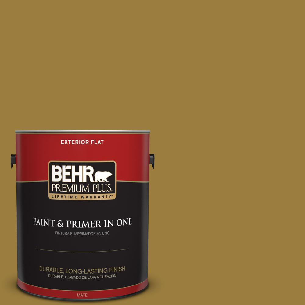 1-gal. #S-H-380 Burnished Bronze Flat Exterior Paint
