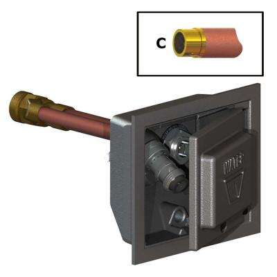 3/4 in. Female SWT x 12 in. Freezeless Box Wall Hydrant with Double-Check Backflow Preventer
