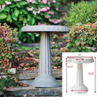 Grecian Bird Bath in Peppercorn