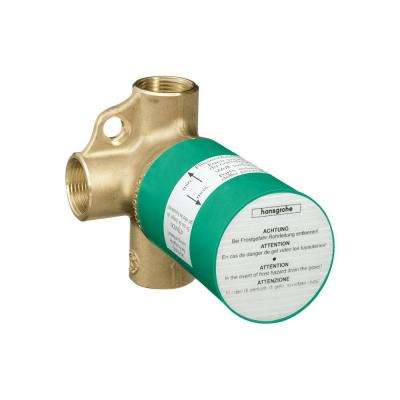 Axor 3.75 in. x 4.125 in. Trio Shut-Off and Diverter Valve Rough in Brass