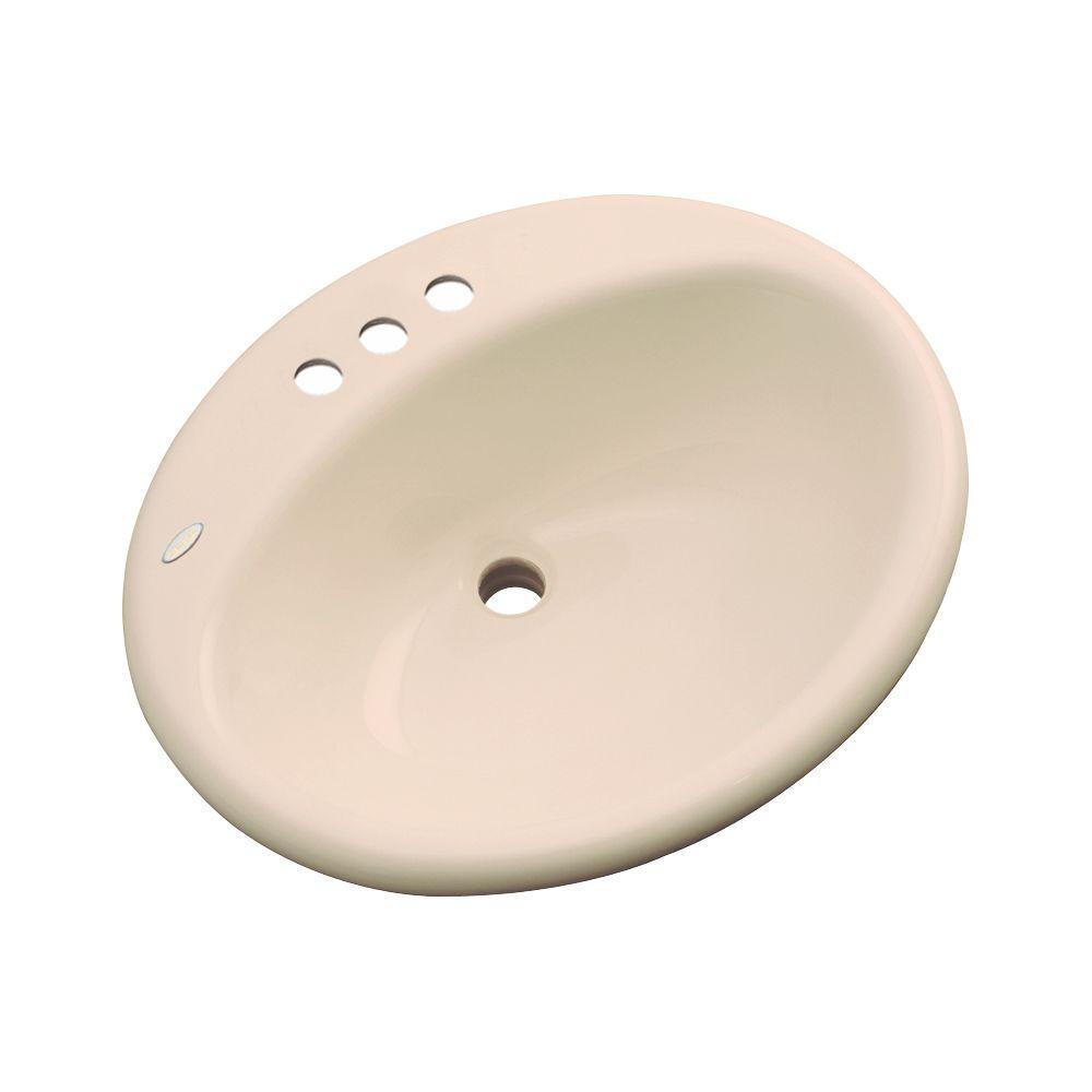 null Bayfield Drop-In Bathroom Sink in Peach Bisque