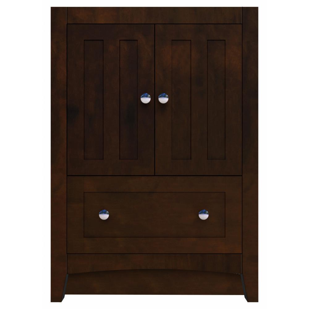 16-Gauge-Sinks 22.75 in. W x 18 in. D Bath Vanity Cabinet Only in Walnut