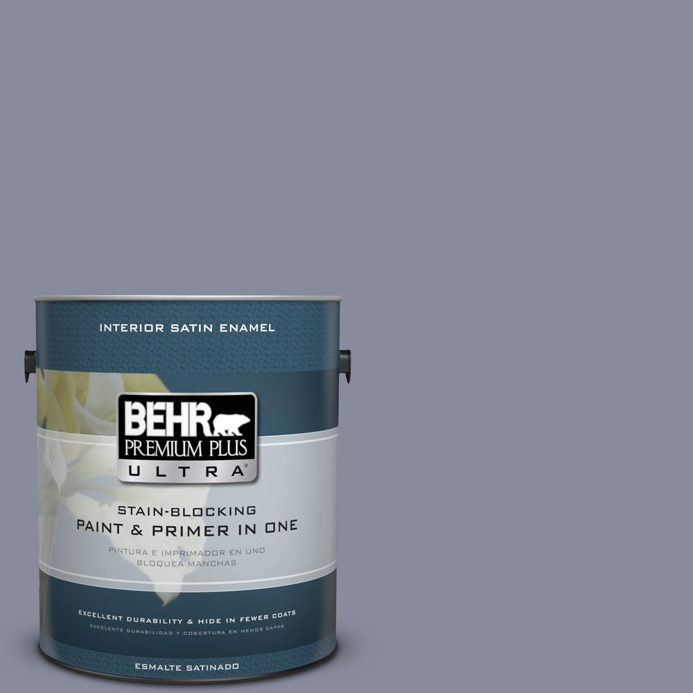 BEHR Premium Plus Ultra 1-Gal. #PPU15-8 River Tour Satin Enamel Interior Paint