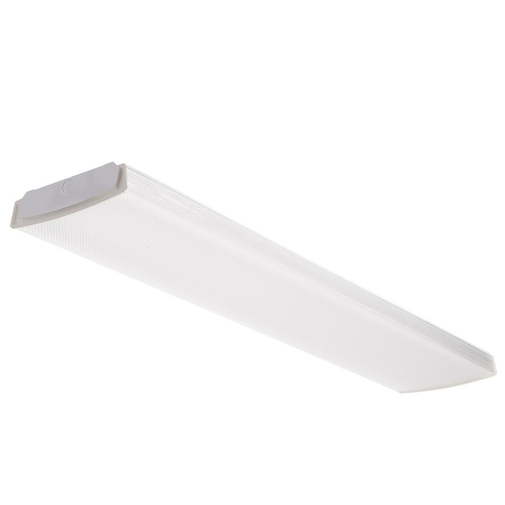 Lithonia Lighting 4 ft. 41-Watt White Integrated LED Low Profile Wraparound Flushmount