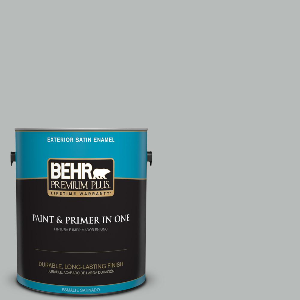 1 gal. #T18-19 Quiet Time Satin Enamel Exterior Paint