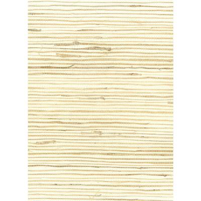 Ivory Jute Grasscloth Wallpaper