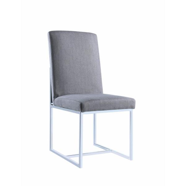 Modern Gray Floating Dining Side Chair (Set of 2)