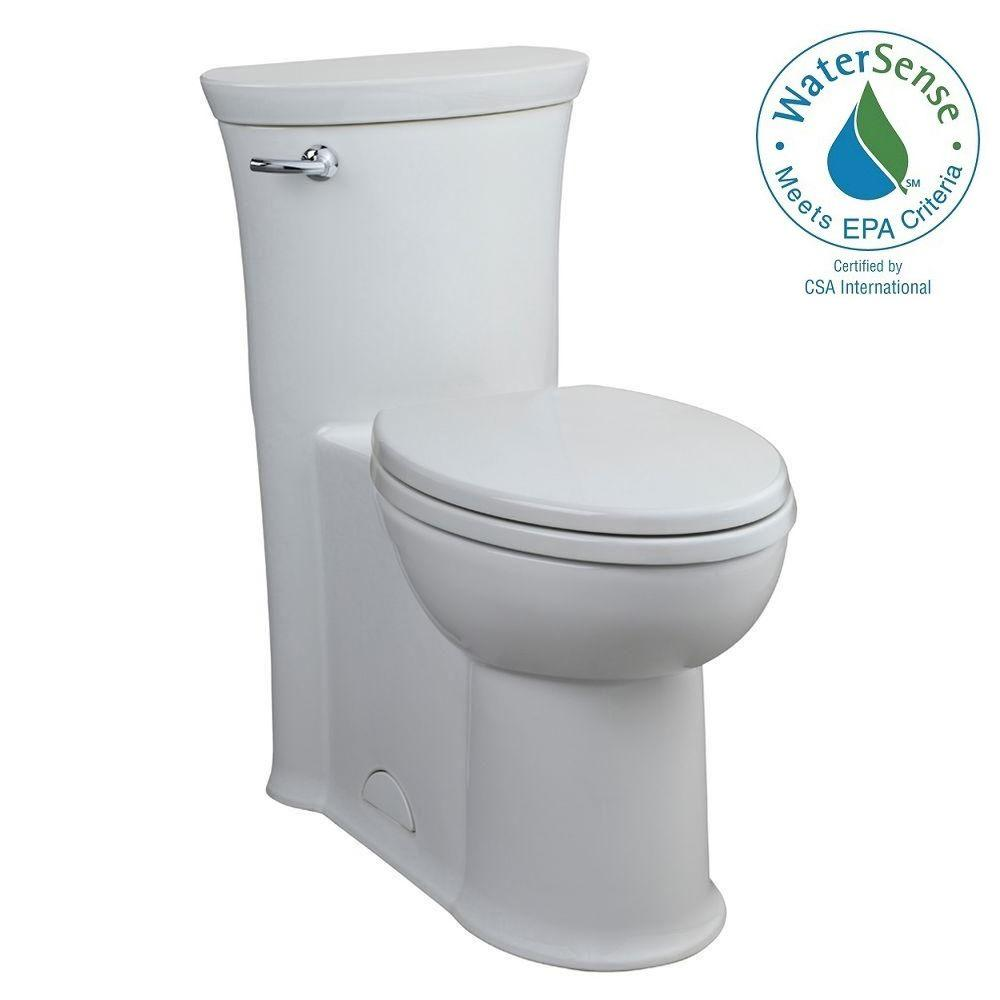 American Standard Tropic 1-piece 1.28 GPF Single Flush Elongated Toilet in White