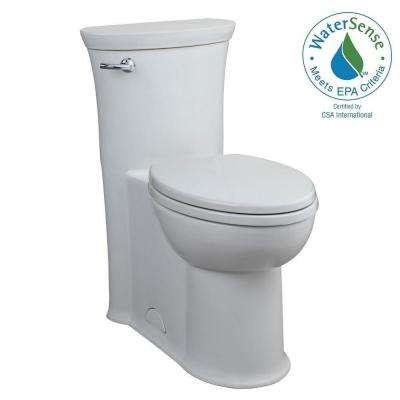 Tropic 1-piece 1.28 GPF Single Flush Elongated Toilet in White