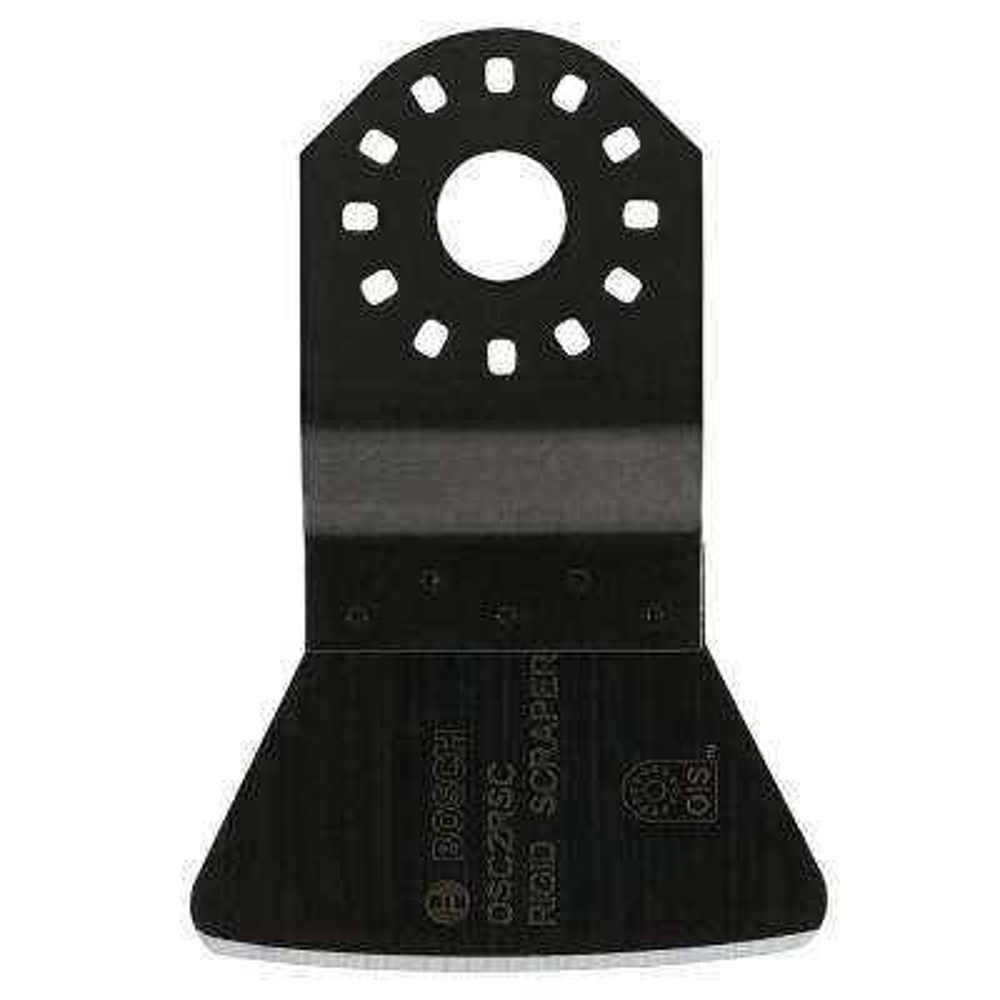 2 in. High-Carbon Steel Rigid Oscillating Tool Scraper for Removing Linoleum, Carpet, Window Putty, Paint and Hard Caulk