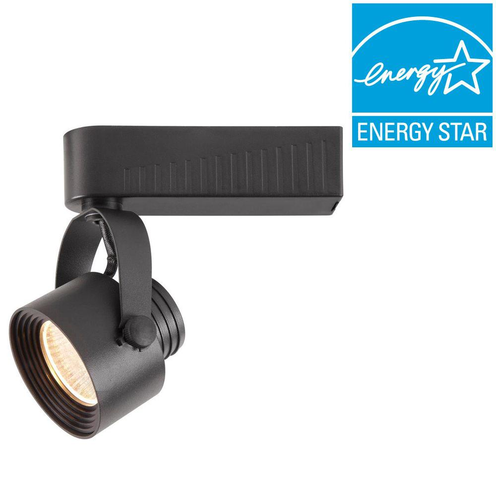 Black Dimmable LED Gimbal Track Lighting Fixture