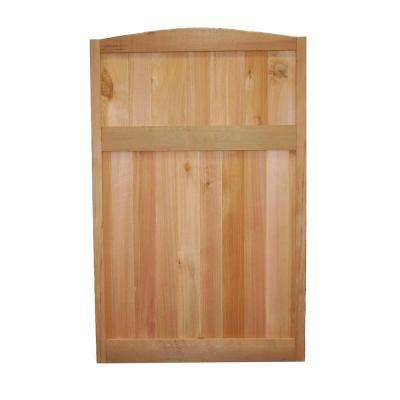 4 ft. H x 2-1/2 ft. W Western Red Cedar Solid Top Deluxe Arched Fence Panel