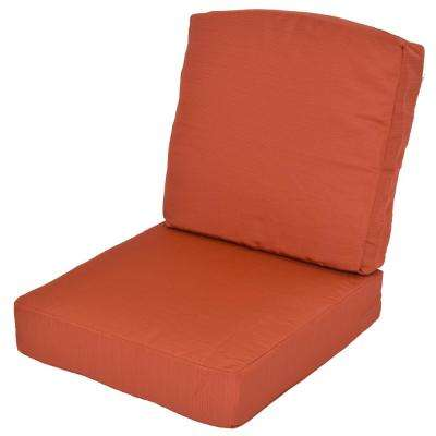 Oak Cliff Quarry Red Replacement 2 Piece Deep Seating Outdoor Lounge Chair  Cushion