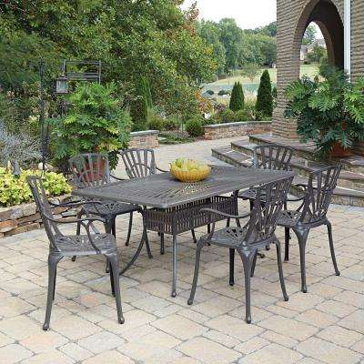 Largo Taupe 7-Piece All-Weather Patio Dining Set