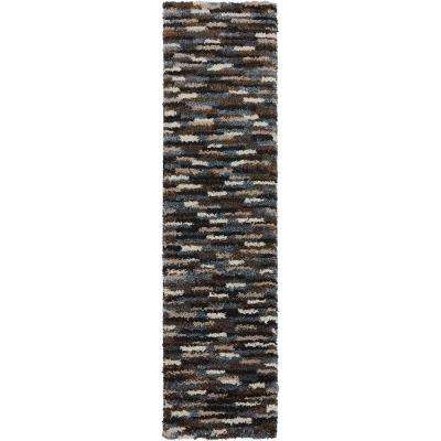 Mesa Black 2 ft. x 8 ft.Indoor Runner Rug