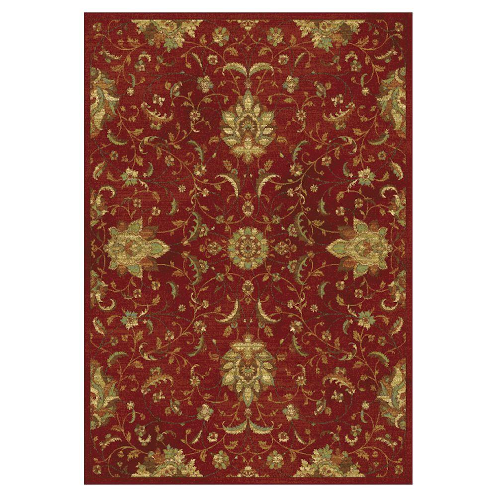 Kas Rugs Pleasant Mahal Red 2 ft. x 4 ft. Area Rug With the Kas Rugs 2 ft. x 4 ft. Area Rug, you can bring a new appearance to any setting. This rectangular rug has stain-resistant fabrics and fade-resistant materials. It is designed with red elements, adding a hint of edge and style to your living area. It has an oriental pattern, enhancing the feel of your home design with a classic elegance. This rug has a 100% viscose construction, making it an extremely durable option for your flooring.