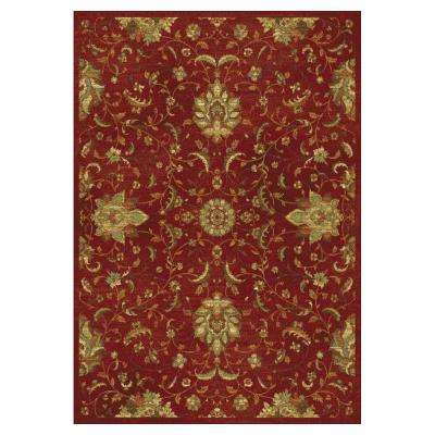 Pleasant Mahal Red 2 ft. x 4 ft. Area Rug