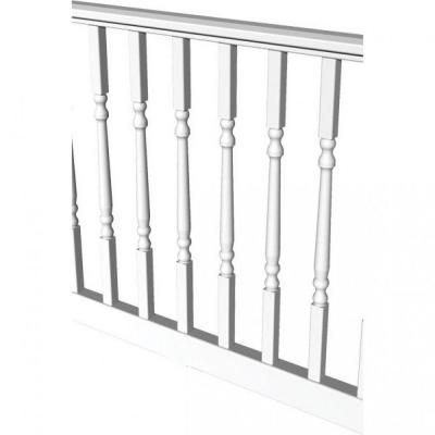 Original Rail 6 ft. x 36 in. White Vinyl Turned Baluster Level Rail Kit