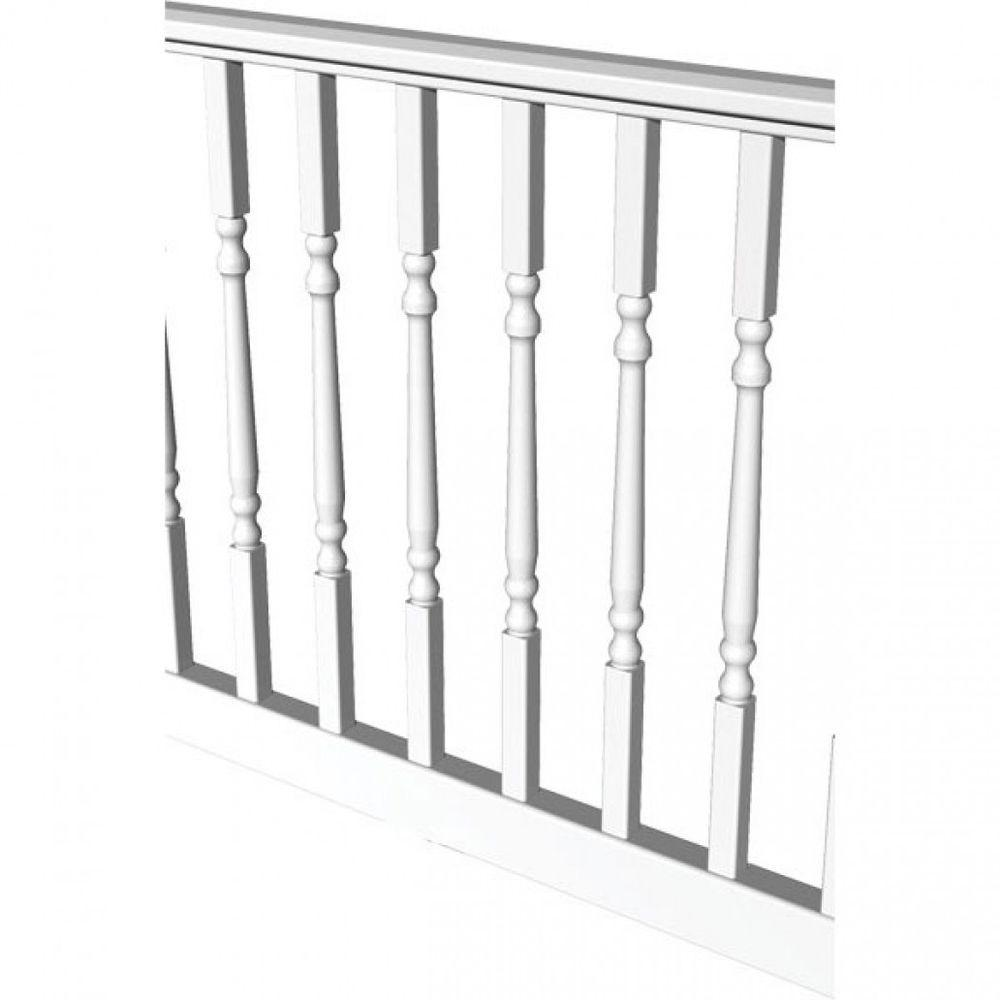 RDI Original Rail 6 ft. x 36 in. White Vinyl Turned Baluster Level Rail Kit