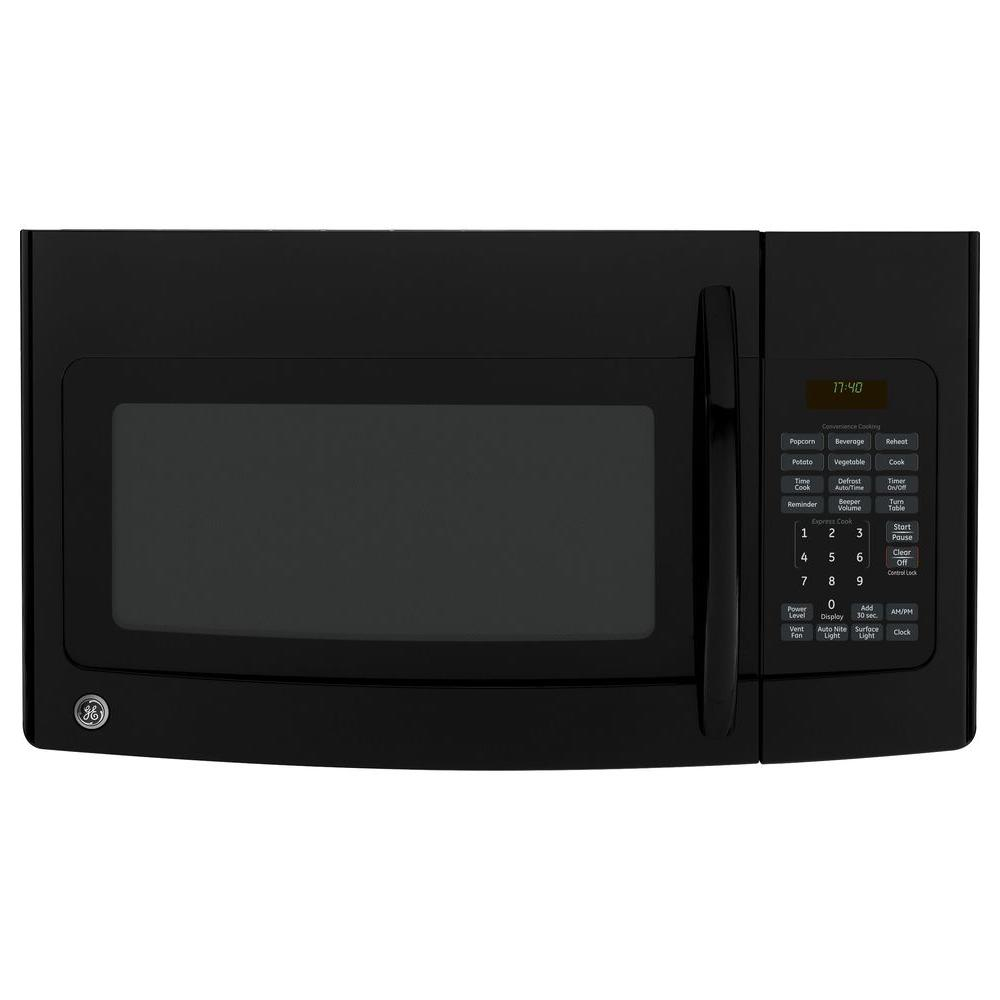 GE Spacemaker 1.7 cu. ft. Over the Range Microwave in Black-DISCONTINUED