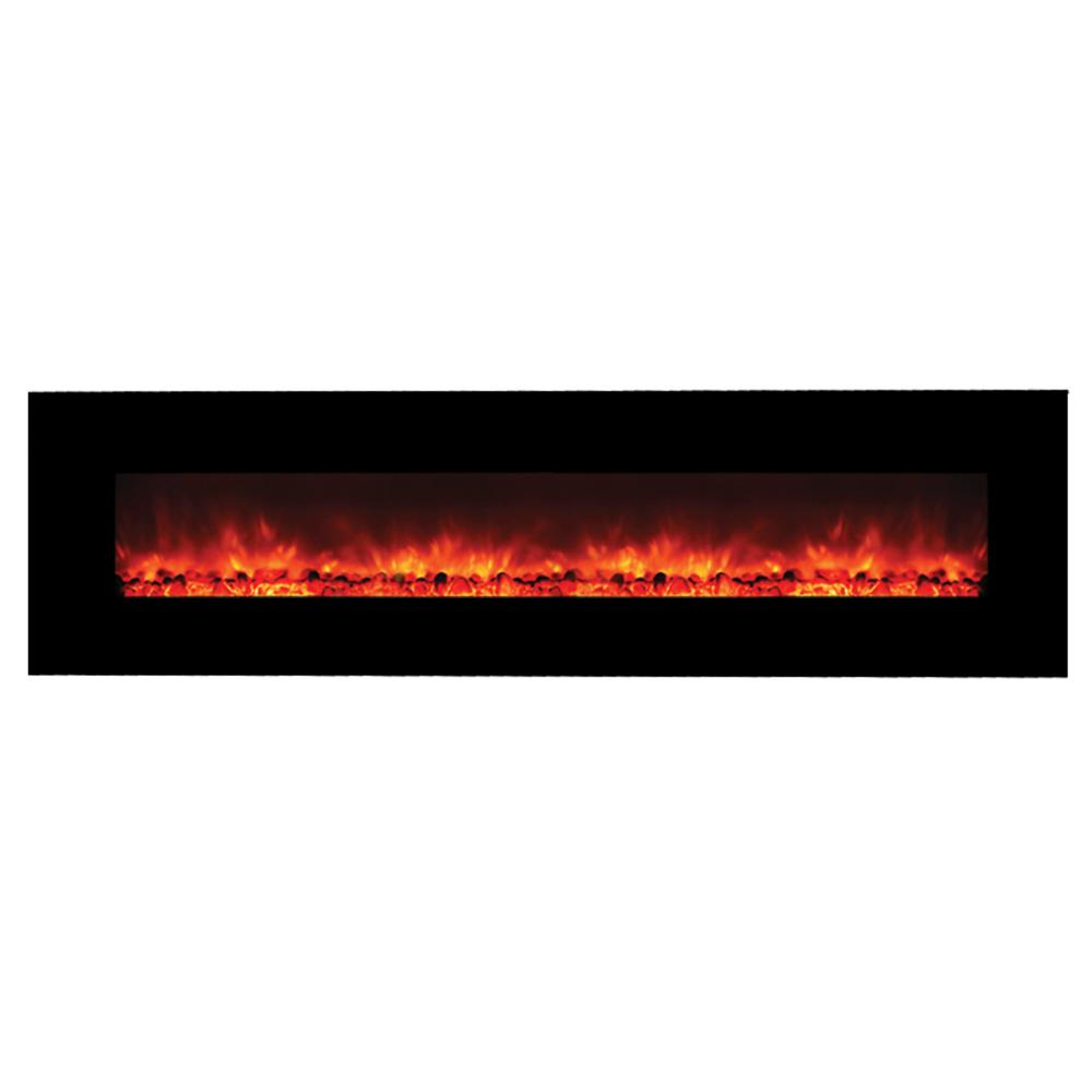 Master of Romance 95 in. Wall-Mount Electric Fireplace in...