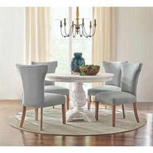 772c1c39ff60 +6. Home Decorators Collection Kingsley Sandblasted White Round Dining Table