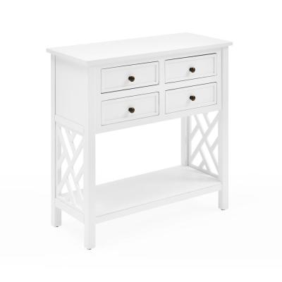 "Coventry 32""W Wood Console Table with 4-Drawers"