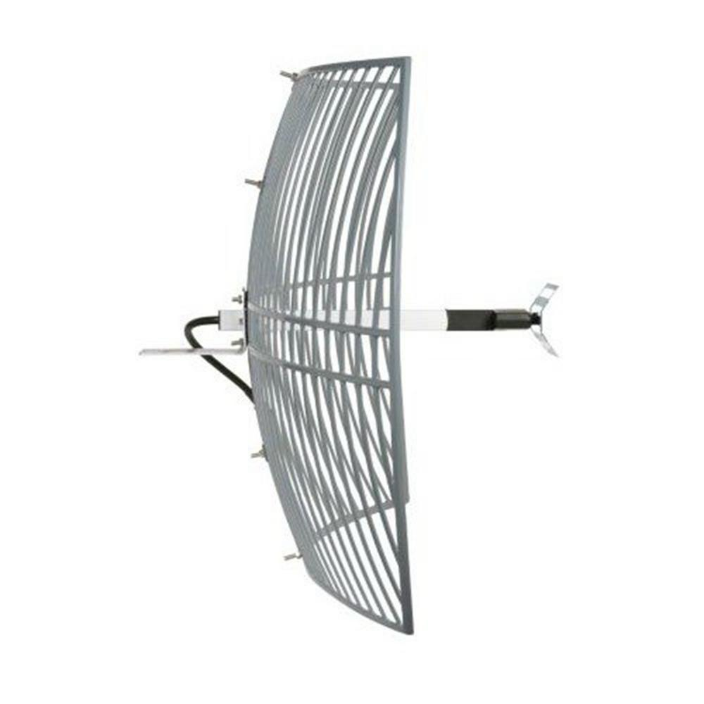 Homevision Technology Turmode Grid Parabolic Wi-Fi Antenna for 2.4GHz Turmode WAG24243 WiFi Antenna is designed to increase the signal strength and range of your 2.4 GHz 802.11b/g/n Wi-Fi device. This high gain antenna can provides further coverage for your Wi-Fi devices such as routers, adapters, access points and repeaters. So you can expand your network for reliable coverage throughout your home.