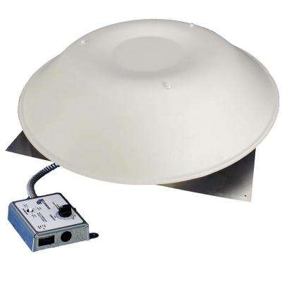 LomanCool 2000 800 CFM White Power Attic Vent