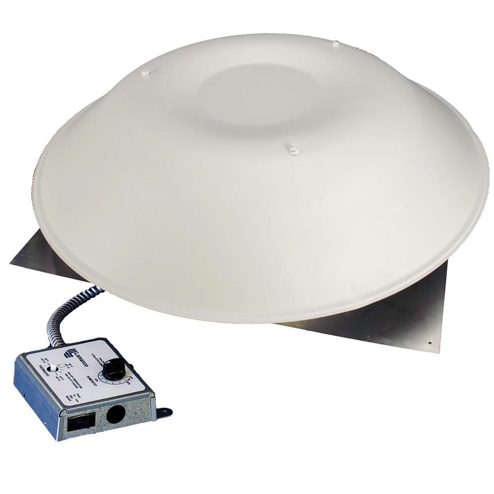 Lomanco LomanCool 2000 800 CFM White Power Attic Vent