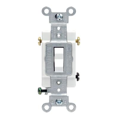 20 Amp 3-Way Commercial Toggle Switch, White