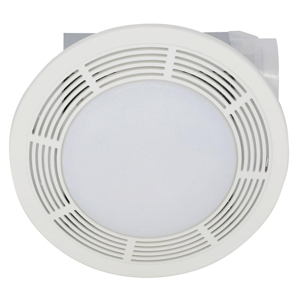 Broan 100 CFM Ceiling Bathroom Exhaust Bath Fan with Light 751   The Home  Depot. Broan 100 CFM Ceiling Bathroom Exhaust Bath Fan with Light 751