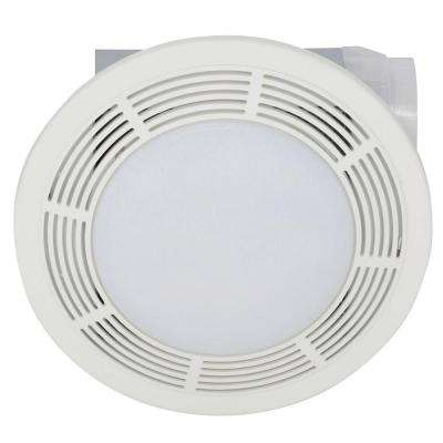 100 CFM Ceiling Bathroom Exhaust Bath Fan with Light
