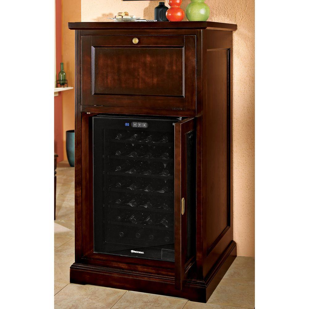 Wine Enthusiast Montenero Alto Wine and Spirits Bar with 28-Bottle Touchscreen Wine Cooler-DISCONTINUED