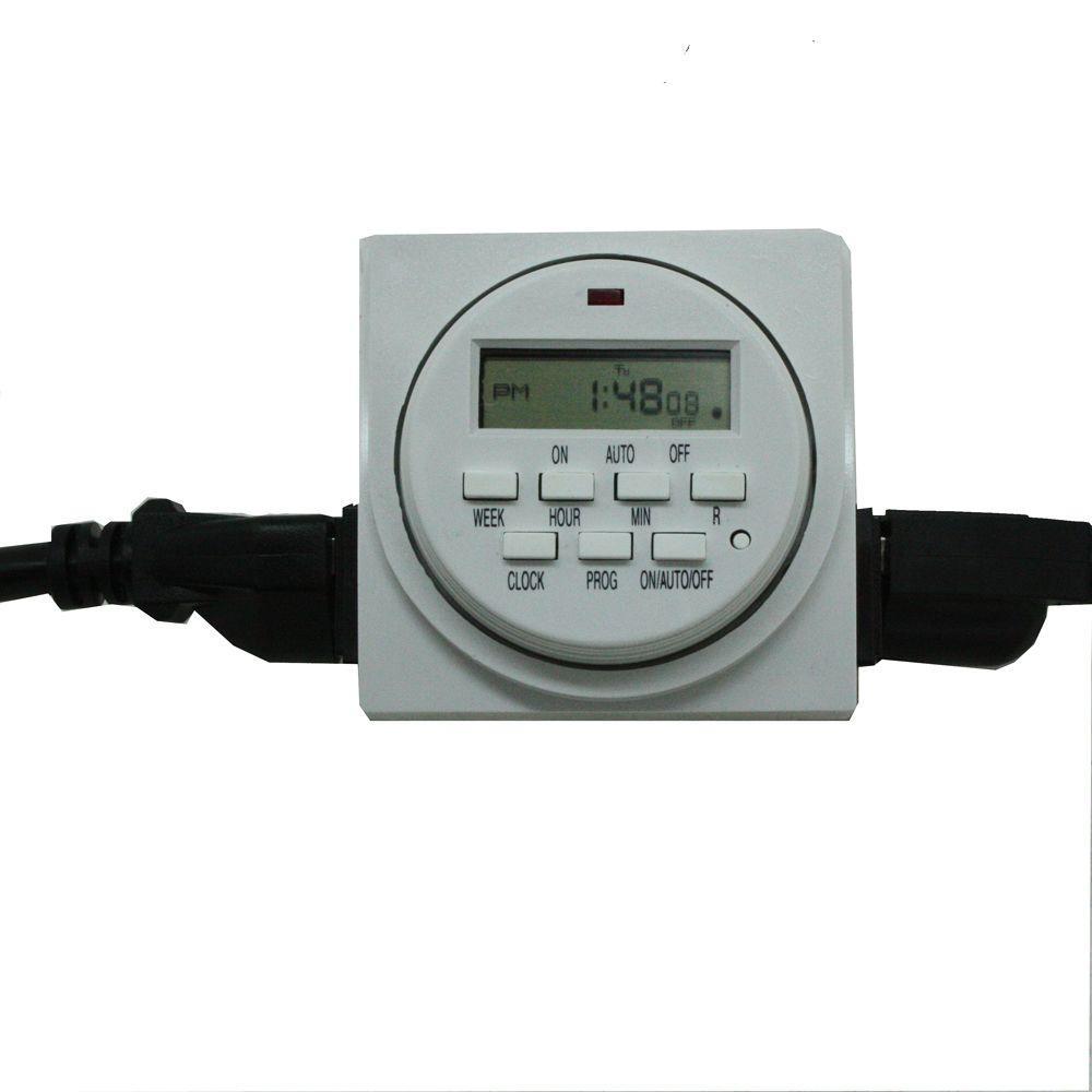 Viagrow 120 Volt Dual Outlet 24 Hour Digital Timer