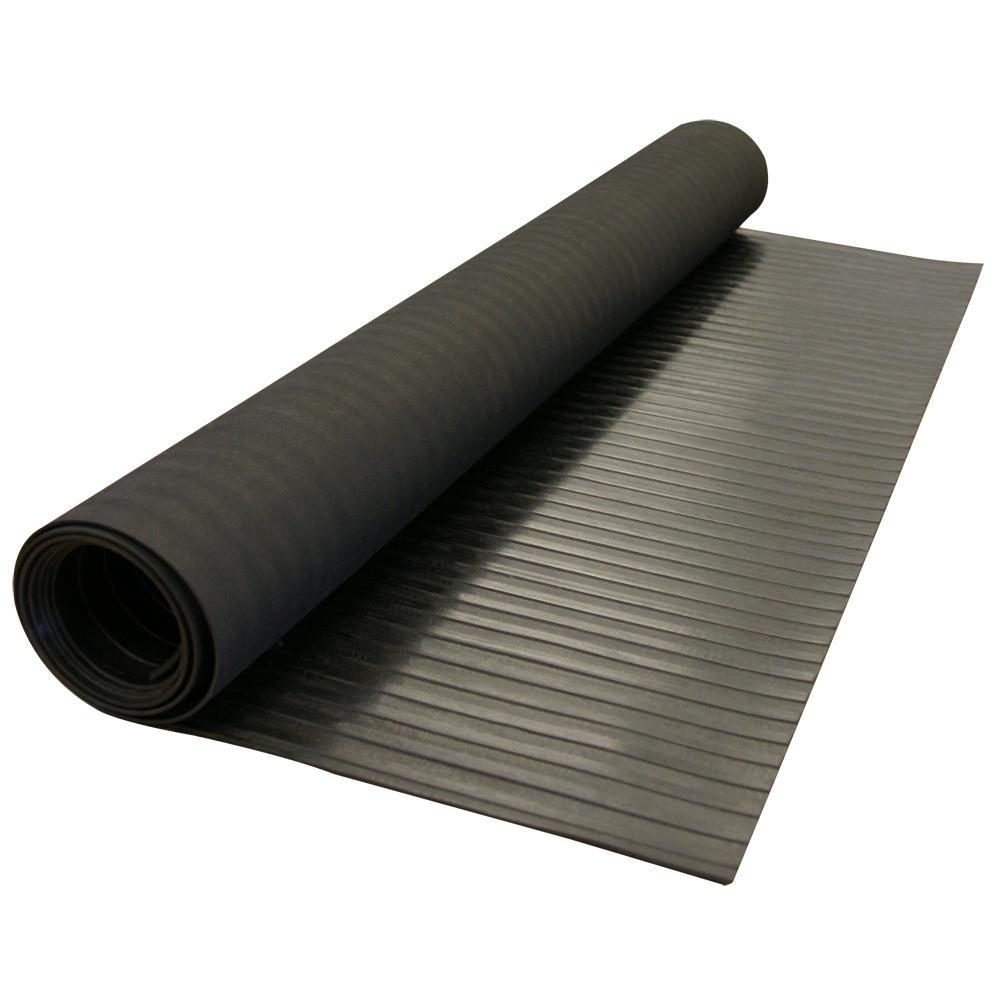 3 Ft X 8 Black Rubber Flooring