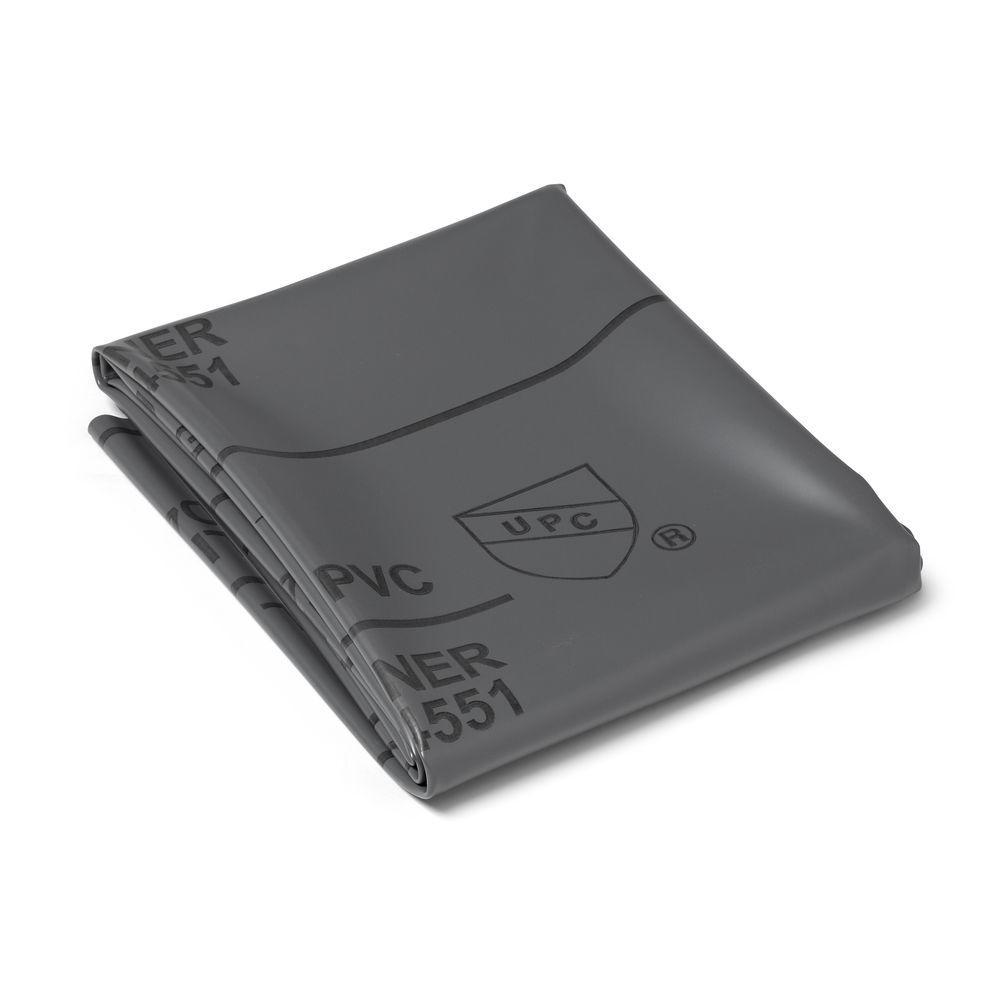 5 ft. x 6 ft. Gray PVC Shower Pan Liner