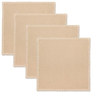 """17/""""x17/"""" or 20/""""x20/"""" Cotton Blend Cloth Linen Dinner Napkins w or w//o Napkin Rings"""
