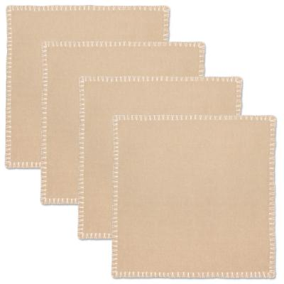 Haven 17 in. x 17 in. Natural 100% Cotton Napkin (Set of 4)