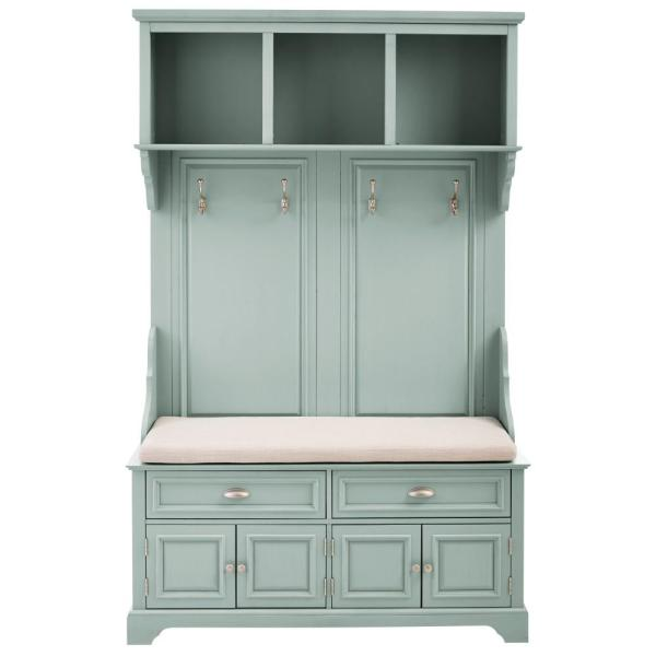 Home Decorators Collection Sadie Antique Blue Double Hall Tree 9856110310