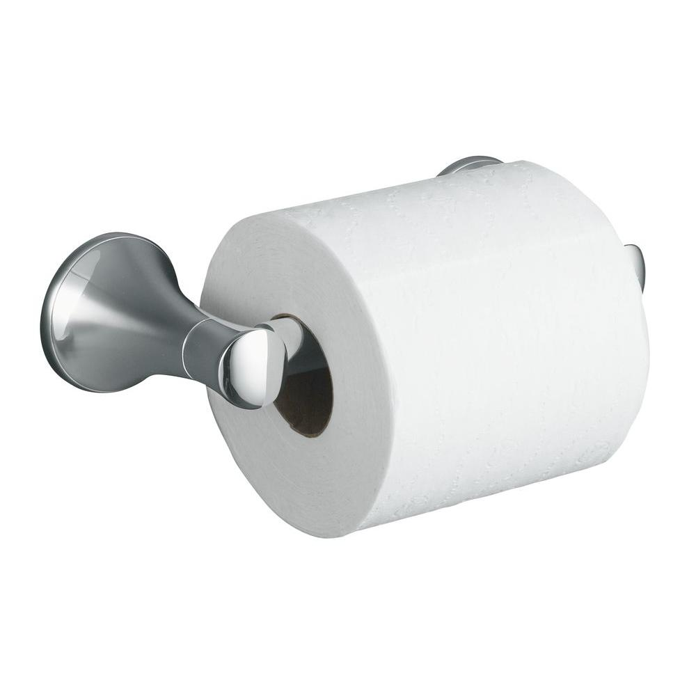 kohler coralais toilet paper holder in polished chrome k 13434 cp the home depot - Bathroom Accessories Toilet Paper Holders