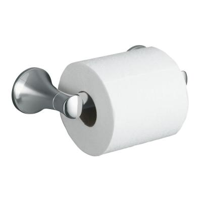 Coralais Wall-Mount Double Post Toilet Paper Holder in Polished Chrome