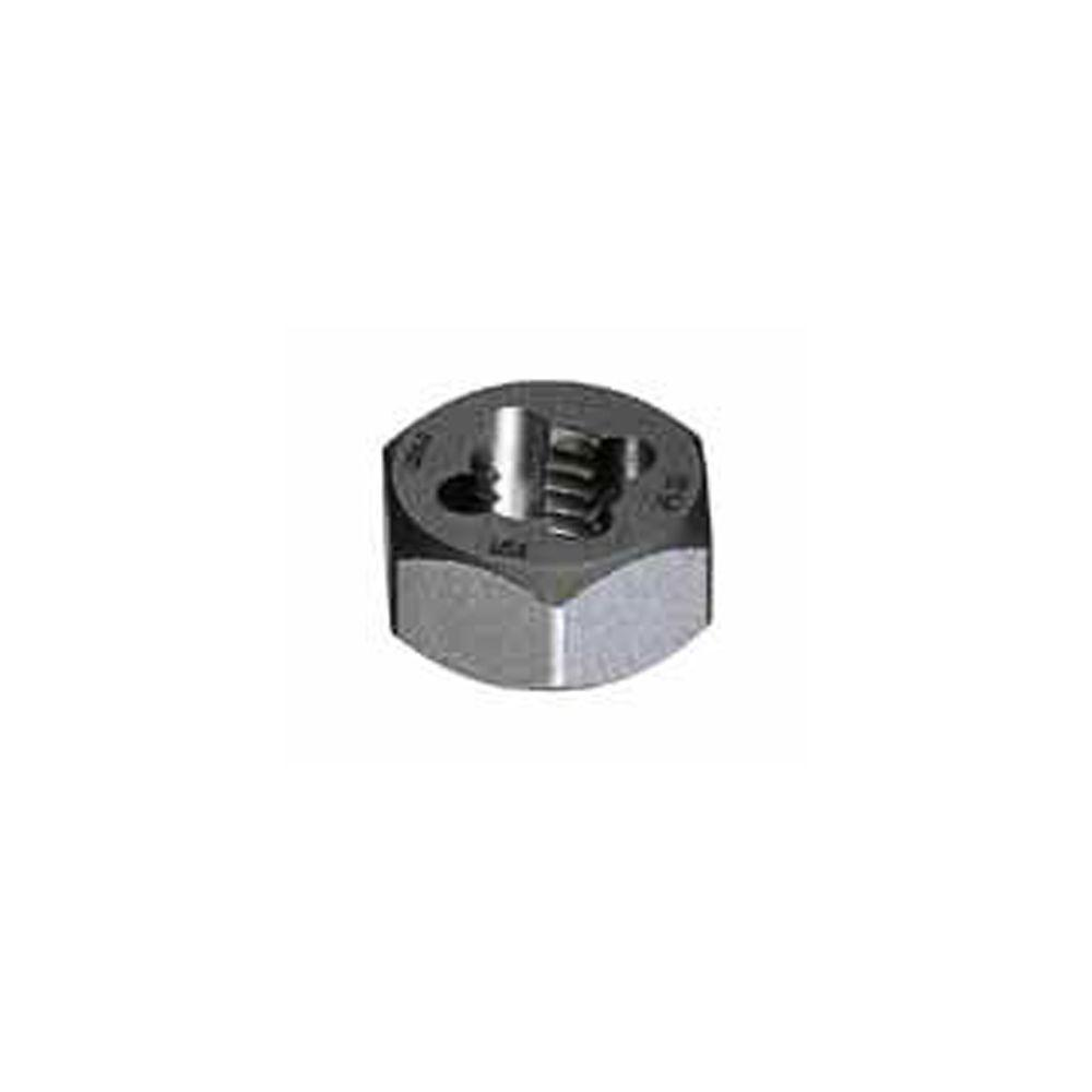 "1//4/""-24 CARBON STEEL HEXAGONAL RE-THREADING DIE"